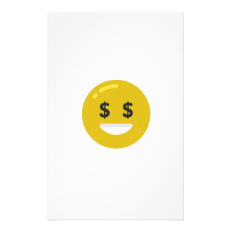 money eye emoji stationery