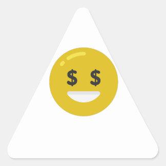 money eye emoji triangle sticker