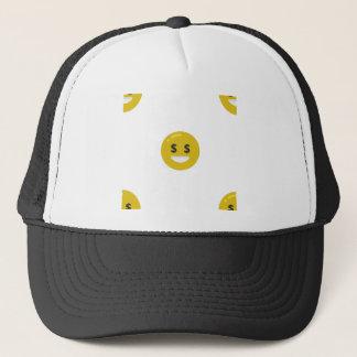 money eye emoji trucker hat