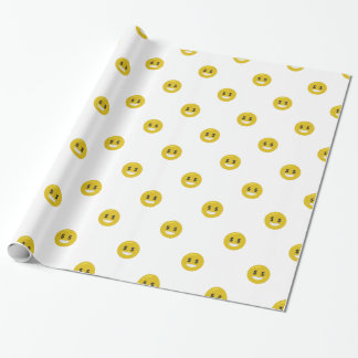 money eye emoji wrapping paper