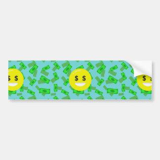 money eyed emoji bumper sticker