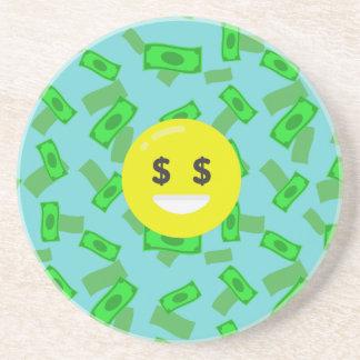 money eyed emoji coaster