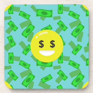 money eyed emoji coaster