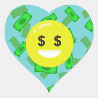 money eyed emoji heart sticker