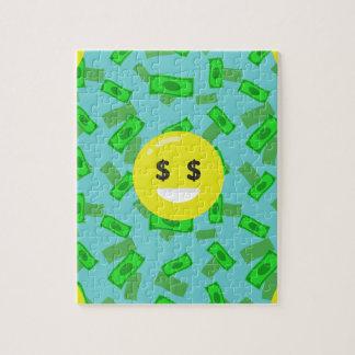 money eyed emoji jigsaw puzzle