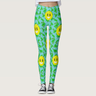 money eyed emoji leggings