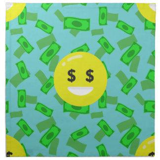 money eyed emoji napkin