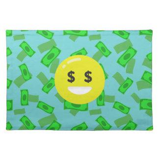 money eyed emoji placemat