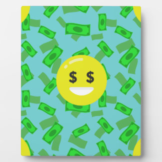 money eyed emoji plaque