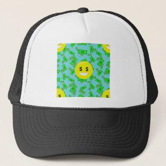money eyed emoji trucker hat