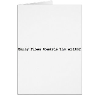 Money flows towards the writer card