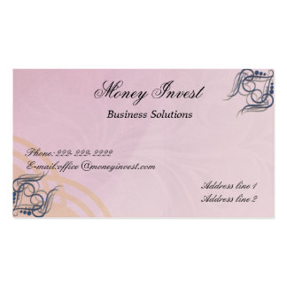 Money Invest Business Cards