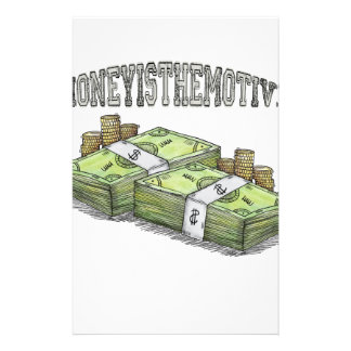 Money is the Motive Collection Stationery