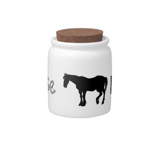 """Money Jar """"Horse Fund"""" Candy Jar"""
