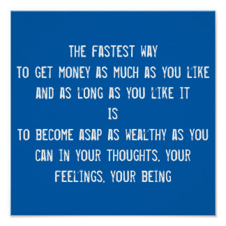 Money, LOA, wealth quote, inspirational motivation Poster