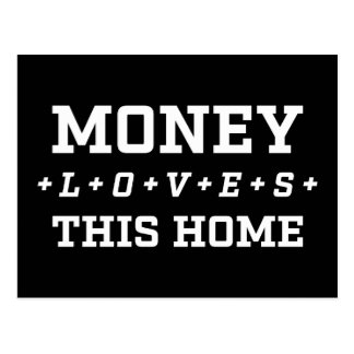 Money Loves This Home Abundance Affirmation Happy Postcard