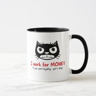 Money & Loyalty Grumpy Cat mug
