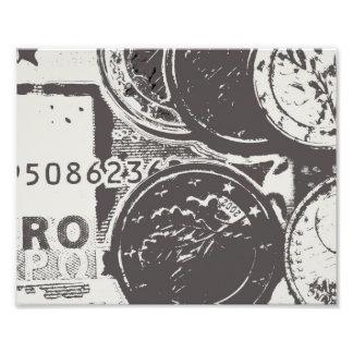 Money makes the world go round photographic print