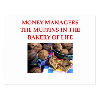 MONEY manager Postcard