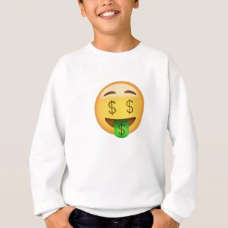 Money-Mouth Face Emoji Sweatshirt