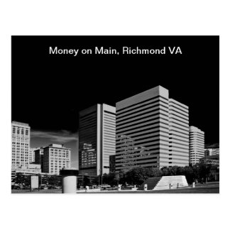 Money on Main, Richmond Virginia Postcard