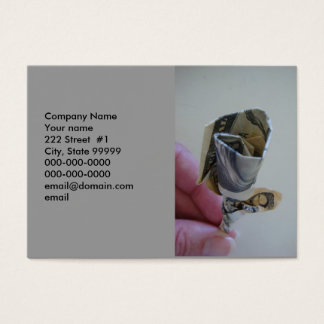 Money Origami Rose Business Card