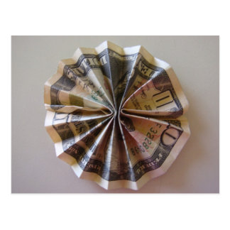 Money Origami Rosette Postcard