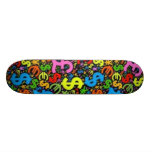money pattern stakeboard deck skate boards