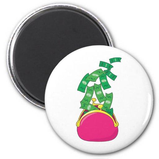 Money Purse Fridge Magnet