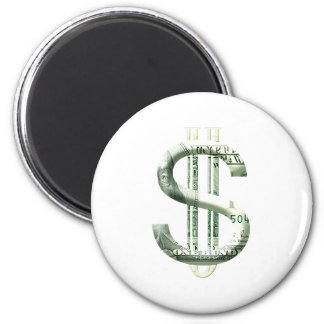 Money Sign 6 Cm Round Magnet