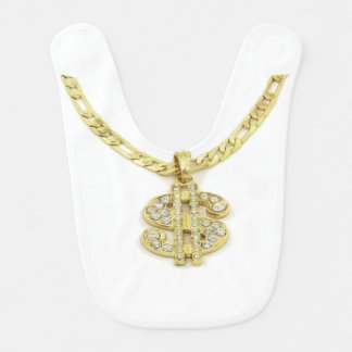 Money Sign Necklace Baby Bib