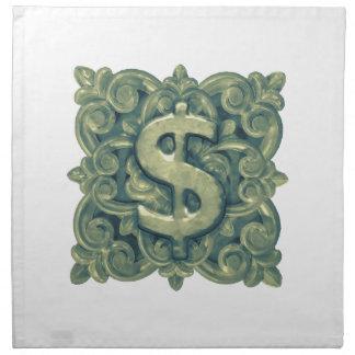 Money Symbol Ornament Napkin