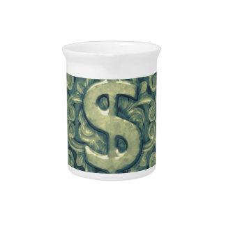 Money Symbol Ornament Pitcher