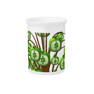 money tree beverage pitchers