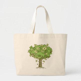 Money Tree Cartoon Drawing Jumbo Tote Bag