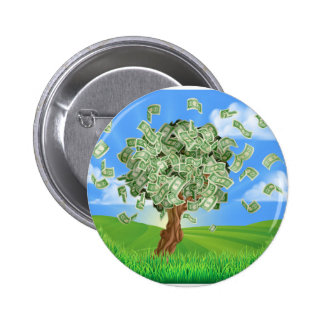 Money Tree Concept 6 Cm Round Badge