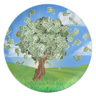 Money Tree Concept Party Plate