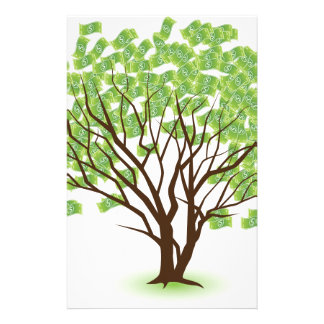 Money Tree Financial Growth Graphic Stationery
