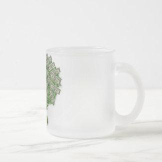 Money Tree Frosted Glass Coffee Mug