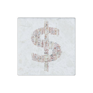 Money Typed Text Symbol | Business Gifts Stone Magnet