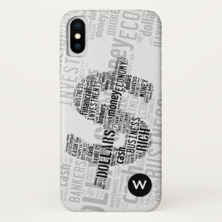 Money Typed Text Symbol   Business Gifts iPhone X Case