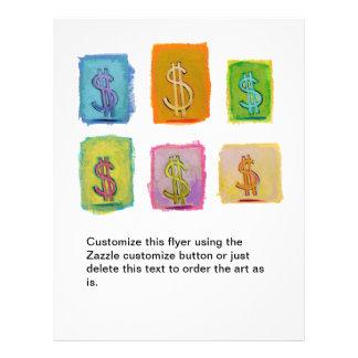 Money wealth abundance economics fun happy art flyers