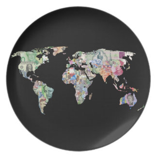money world map finance country symbol business cu plate