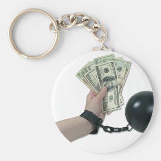 MoneyIssues082510 Basic Round Button Key Ring
