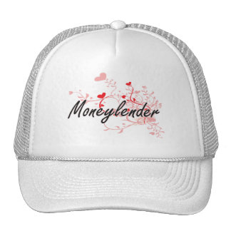 Moneylender Artistic Job Design with Hearts Cap