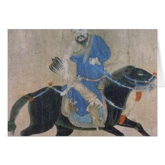 Mongol archer on horseback card