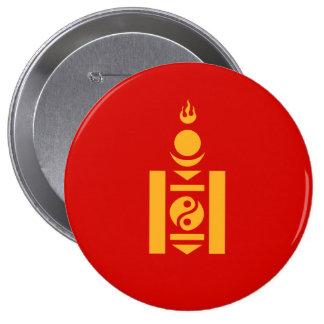 Mongolia 10 Cm Round Badge