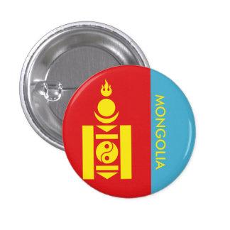 mongolia 3 cm round badge