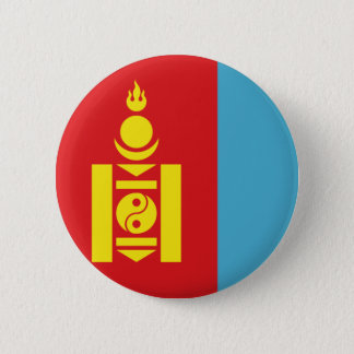 mongolia 6 cm round badge