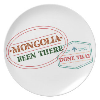 Mongolia Been There Done That Plate